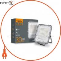 LED прожектор VIDEX PREMIUM 30W 5000K 220V Gray