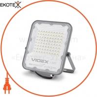 LED прожектор VIDEX PREMIUM 50W 5000K 220V Gray
