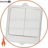 Выключатель двухклавишный ВЗ10-2-IP44