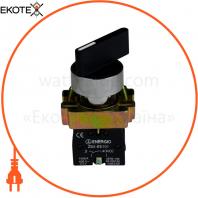 Перемикач секторний ENERGIO XB2-BJ21 1-0 довга ручка NO