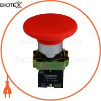 Кнопка ENERGIO XB2-BR42 Грибок 60мм красная NC