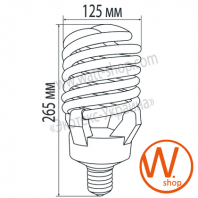 t4 spiral 120w 6500k e40 энергосберегающие лампы eurolamp Eurolamp
