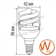 t2 spiral 8w 2700k e14 энергосберегающие лампы eurolamp Eurolamp