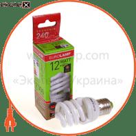 t2 spiral 12w 2700k e27 энергосберегающие лампы eurolamp Eurolamp YJ-12272