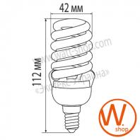 t2 spiral 16w 4100k e14 энергосберегающие лампы eurolamp Eurolamp YJ-16144