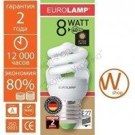 t2 spiral 8w 2700k e27 энергосберегающие лампы eurolamp Eurolamp