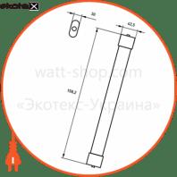 eurolamp led світильник лінійний ip65 45w 6500k (1.5m) slim
