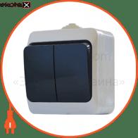Выкл. двухклавишный с черными клавишами ВЗ10-2-IP44N