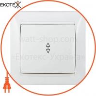 Выключатель 1-кл. проходной ВВп10-1-0-Fr-W (белый)