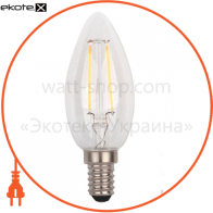 лампа світлодіодна DELUX BL37B 4 Вт 4000K 220В E14 filament білий