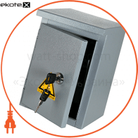 Шкаф e.mbox.stand.n.06.z металлическая, под 6мод., Герметичная IP54, навесной, с замком