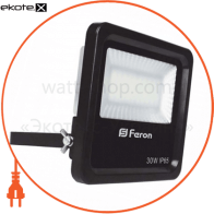 прожектор свiтлодiодний LL-630 30W белый 6400K 230V(164*152*44mm) чорний IP 65