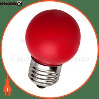 Лампа світлодіодна, LB-37 червона G45 230V 1W E27