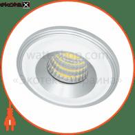 свiтильник точковий LN003 COB 3W 4500K 230V/50Hz алюмiнiй, білий-срібло круглий