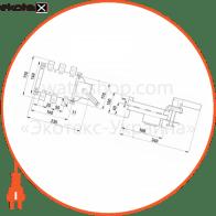 вимикач-роз'єднувач навантаження e.industrial.ukgz.250.3, 3р, 250а, з боковою рукояткою управління