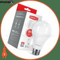 LED лампа MAXUS A80 20W яркий свет E27 (1-LED-5610-01)