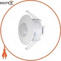 Датчик движения инфракрасный потолочный, встраиваемый e.sensor.pir.42. белый (белый), 360°, IP20