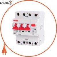 Выключатель дифференциального тока с функцией защиты от сверхтоков e.rcbo.pro.4.С63.100, 3P+N, 63А, С, тип А, 100мА