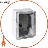 Корпус ударопрочный с АБС-пластика e.plbox.210.280.130.tr, 210х280х130мм, IP65 с прозрачной дверью