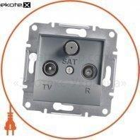 Asfora TV-R-SAT Розетка оконечная - 1дБ, без рамки, стальной