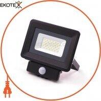 Светодиодный прожектор Venom SMD 30Вт Standart 6000-6500K с датчиком движения (S4-SMD-30-Slim+SENSOR)