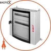 Корпус металлический e.mbox.industrial.n.72.bc.gl IP55 навесной на 72 модулей со сплошной панелью, со стеклом