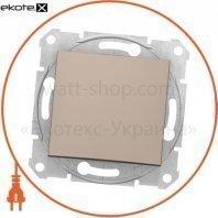 Sedna Переключатель 1 полюсный двунаправленный с 10AX индикатором, без рамки титан