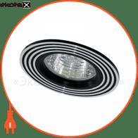 Встраиваемый светильник Feron CD2300 серебро/черный 18626