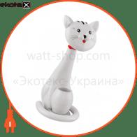 Настольная лампа LED 6W 3000-6000K 350Lm 100-240V кот белый