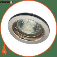 Встраиваемый светильник Feron DL1020 блестящий и черный алюминий золото 20137