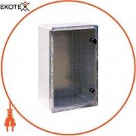 Корпус ударопрочный с АБС-пластика e.plbox.400.600.200.tr, 400х600х200мм, IP65 с прозрачной дверью