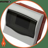 Корпус пластиковий 6-модульний e.plbox.stand.w.06, що вбудовується Multusan