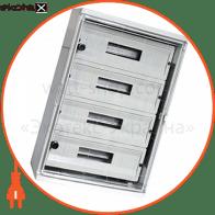 шафа удароміцна з абс-пластика e.plbox.210.280.130.8m.tr, 210х280х130мм, ip65 з прозорими дверцятами та панеллю під 8 модулів