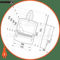 трехфазный счетчик с жк экраном нік 2303 ап1 1100 mc прямого включения 5(100)а, с защитой от магнитных и радиопомех