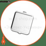 розетка NEPTUN 2229 одинарна з заземлення з кришкою біла (IP44)
