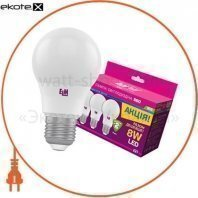 Комплект ламп светодиодных стандартных B55 PA10 8W E27 4000K алюмопл. корп. 3шт. 18-0169