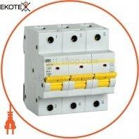 Автоматический выключатель ВА47-150 3Р 80А 15кА D IEK