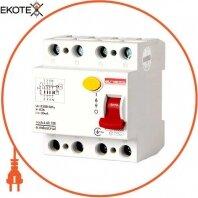 Выключатель дифференциального тока e.industrial.rccb.4.63.100, 4р, 63А, 100мА