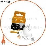 Лампа світлодіодна ЕВРОСВЕТ 4Вт 4200К G-4-4200-GU5.3
