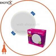 Светильник светодиодный встраиваемый Grace-9 9W 4000К IP20 белый 26-0090