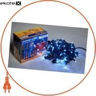 Гирлянда внешняя DELUX ICICLE 108 LED бахрома 2x1m 27 flash белый/черный IP44 ENГірлянда зовнішня DELUX є icicle 108 LED бахрома 2x1m 27 flash білий/чорний IP44 EN