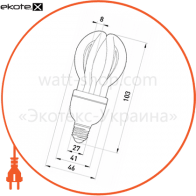 лампа энергосберегающая e.save.flower.e27.7.2700, тип flower, цоколь е27, 7w, 2700 к энергосберегающие лампы enext Enext l0300002