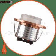 Світильник врізний, корпус метал круг d-47 COB LED 3W 4200K 125Lm, колір - білий/хром/мат.хром/мідь/чорний (85--265v)