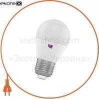 Лампа светодиодная шар PA10 7W E27 3000K алюмопластиковый корп. 18-0162