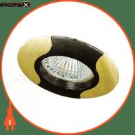 Встраиваемый светильник Feron 020T MR-11 чёрный золото 17677