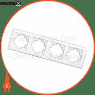 рамка WEGA 9304 4-секційна біла
