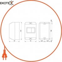 "Enext p004036 корпус пластиковый e.mp.pro.box ip54 с кнопкой ""стоп"""