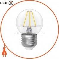 Лампа светодиодная шар-ретро прозрачный стеклянный корпус LB-4F 5W E27 3000K A-LB-1915