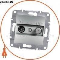 Asfora TV-SAT Розетка оконечная - 1дБ, без рамки, алюминиевый