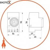 Enext i0310009 реле времени электромеханическое e.control.t04